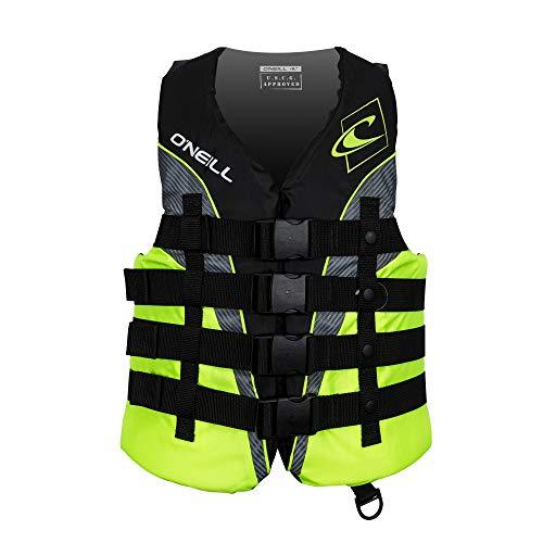 O Neill Wetsuits Men s Superlite USCG Life Vest , Black Lime Smoke:Lime, Medium