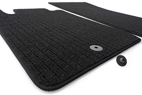 Fußmatten Rips Automatten (Ripsmatten) 2-teilig schwarz inkl. Befestigung