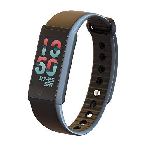 Padgene Smart Watch Sport Activiteit Armband met Kleur Display Hartslagmeter Locator, Zwart
