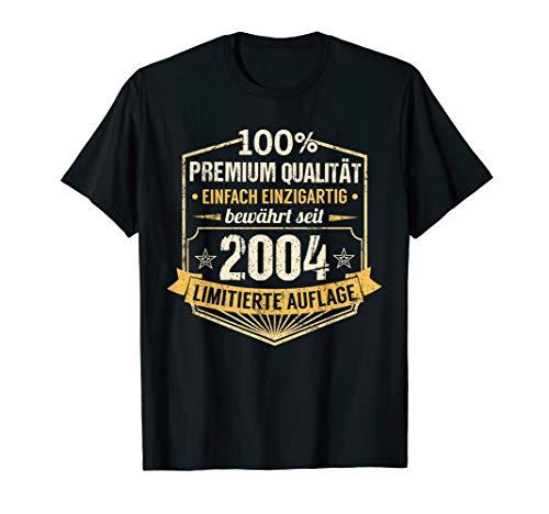 16. Geburtstag Junge Mädchen 2004 Party 16 Jahre Geschenk T-Shirt