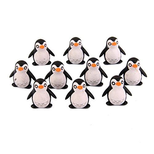 10pcs Miniature Penguin Bonsai Ornaments Micro Landscape Decoration 2 x 1cm