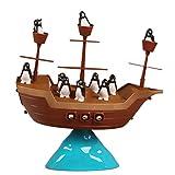 freneci Balance Spiel Pinguin Pirate Boat Stacking Game Motor Skills NEU