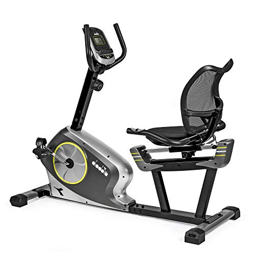 Diadora Fitness Vega Comfort, Cyclette Recumbent Adulto, Argento,