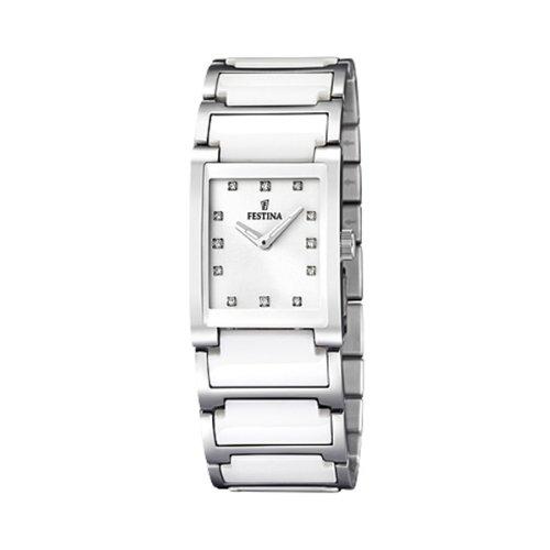 Festina Damen Analog Quarz Uhr mit Verschiedene Materialien Armband F16536/3