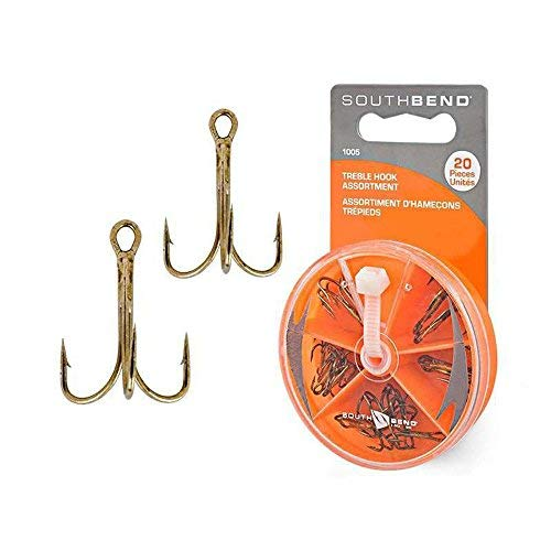 SouthBend 20 Pieces 1005 Treble Assorted Hook For Catfish Rigs