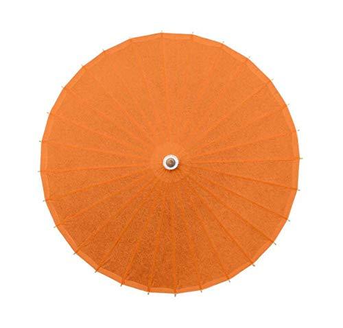 Black Temptation Accessoires de Parasol en Papier Faits Main de Parapluie de Papier de Couleur Pure d'huile, H01