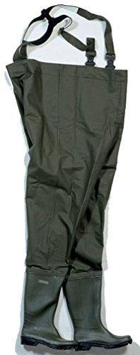 Ocean® Junior Wathose, 500g PVC, Farbe:dunkeloliv; Größe:39