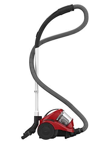 Dirt Devil DD2820-4 Aspiradora sin bolsa, ciclónico, 1000 W, 1.9 litros, 81 Decibelios, rojo y negro