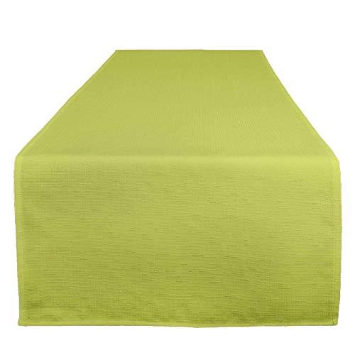 Tischläufer Wien, grün, 40x140 cm, Fleckschutz, Tischläufer für das ganze Jahr