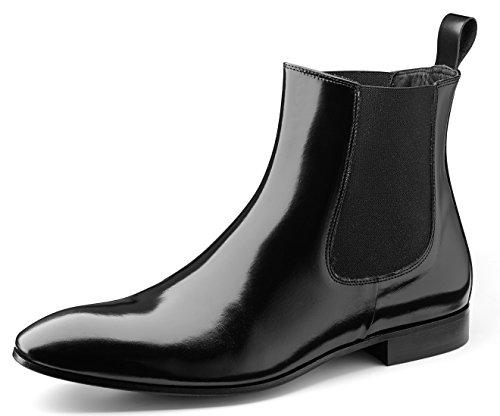 Klassische Lederboots der Marke Wilvorst in der Farbe Schwarz Größe 45