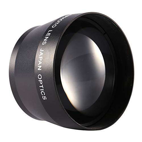 Jadpes Professionele digitale zoomlens 2,0 * 52 mm, DSLR-accessoires voor camera's HD-super-telelens Universal 52 mm Professionele digitale zoom 2,2-voudig voor Micro-Four-Thirds-camera's