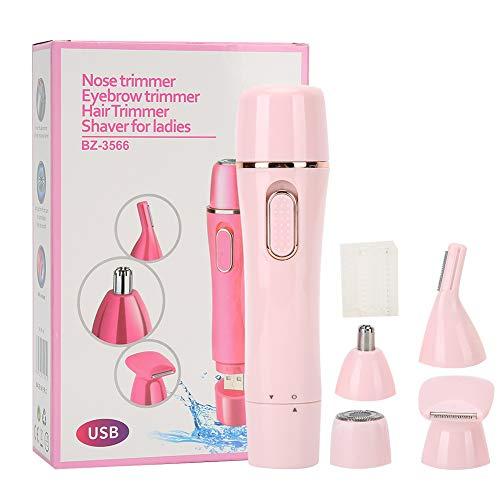 Afeitadora eléctrica para mujeres, USB, inalámbrica, 4 en 1, sin dolor, para...