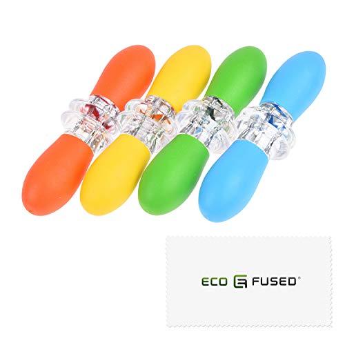 Eco-Fused Maiskolbenhalter - 4 Paar (orange / gelb / blau / grün) - Maiskolben-Spieße - Große Handgriffe - ineinandergreifendes Design - ideal für Hausmannskost, BBQ, Picknick, Camping und Partys