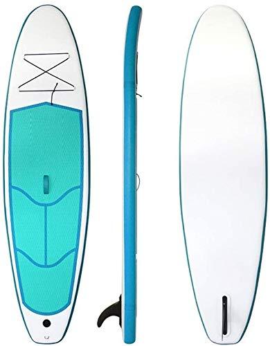 FANLIU Stand-up Junta de Agua Inflable Stand Up Paddle Board 4 Pulgadas de Espesor Universal Sup Postura Amplia con la Parte Inferior de la Aleta for remar y Control de Surf