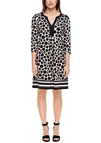 s.Oliver BLACK LABEL Damen Kleid mit modischem Musterprint 99E7 46