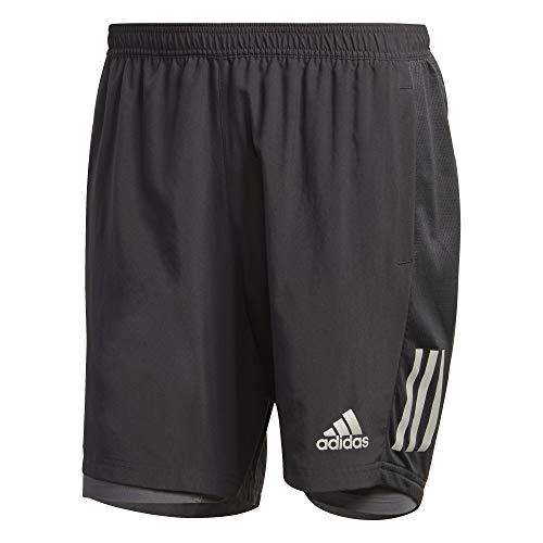 adidas Herren Shorts Own The Run Two-In-One, Black/Grey, M 5