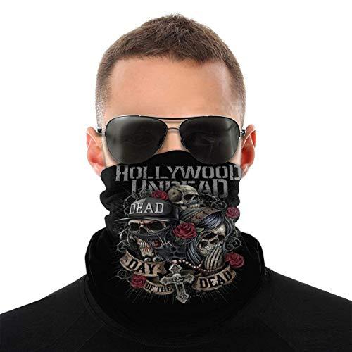 Hollywood Undead - Bandana para la cara, bufanda de verano, pasamontañas, cuello, pañuelo, pañuelo, pañuelo para la cabeza, fina, transpirable, unisex, para ciclismo, deporte