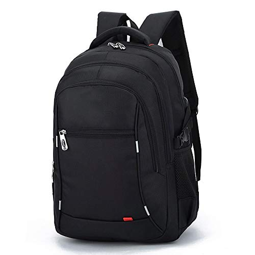 Hanpiyig Zaino Porta Pc, Anti Theft Laptop Backpack Affari Grande capienza Zaino for Teenaged College di Viaggio Zaino Maschio (Color : Black)