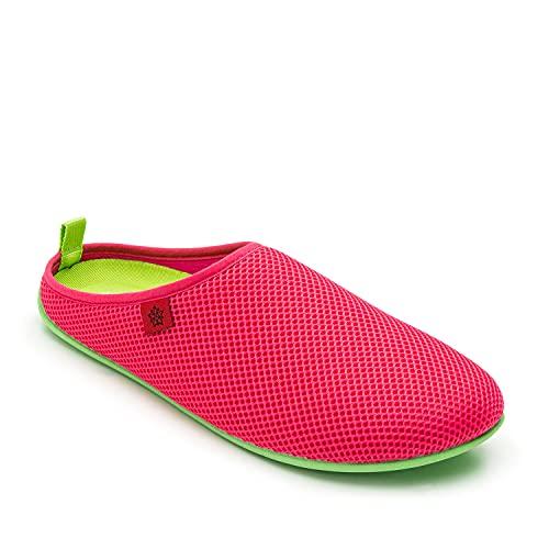 Andres Machado - Zapatillas de Estar por casa para Hombre y Mujer de Verano - Dynamic-Spring- Slippers - para Unisex Adulto - Suela de Goma Vulcanizada Resistente y Antideslizante - Fucsia, EU 42