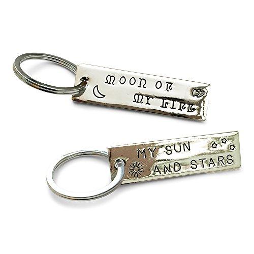 Orion Creations Game of Thrones 2 X und Ihn passenden SchlŸsselring Set. Khal 'Moon of My Life' und Khaleesi ' My Sun and Stars'