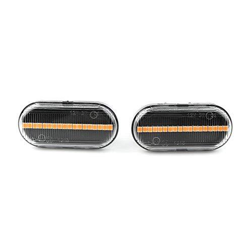 SHENG shengyuan 2 unids dinámico secuencial LED Marcador Lateral señal de Giro Lámpara de luz Fit para Dacia Duster Dokker Lodgy Renault Kangoo Clio Espace 3 Laguna