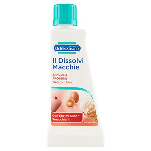 Dr. Beckmann, Smacchiatore, Dissolvi Macchie, Specifico per Sangue e Proteine, Delicato su Colori e Tessuti Lavabili e Non Lavabili, 50 ml