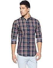 Amazon Brand - House & Shields Men's Regular Casual Shirt