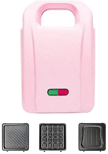 Mini Wafelijzer, Ronde Huishoudelijke Dubbelzijdige Scone Maker Ontbijtmachine met Automatisch Verwarmingslampje, Draagbaar Nodig voor Reizen