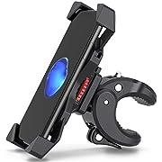 FYLINA Men's Holder,360°Rotation Adjustable Bike Phone Universal Mounts for Bicycle, Motorcycle, Motorbike, Moped, Scooter-Waterproof-AntiShake & Nonslip-3.5 to 6.5 Inch Smartphone, Pink, 1PS