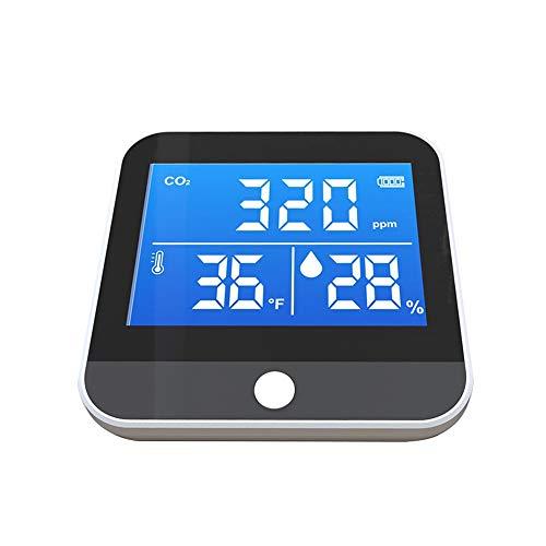 HUANGCHAO Co2 Detektor-Tester Digital Carbon Dioxid Meter LuftqualitäT Detektor Mit Storagecase LuftqualitäT Monitor Dioxid Detector Co2