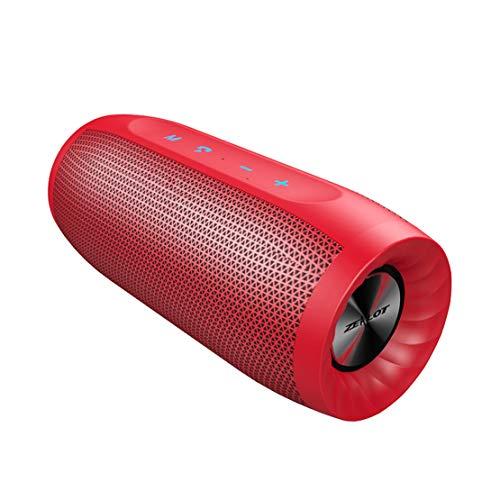 HIOD Bocina Bluetooth Portátil Al Aire Libre Impermeable Altavoz Inalámbrico 33 pies Alcance de Bluetooth Cargar el Teléfono Micrófono Incorporado para Familia Viajar,Red