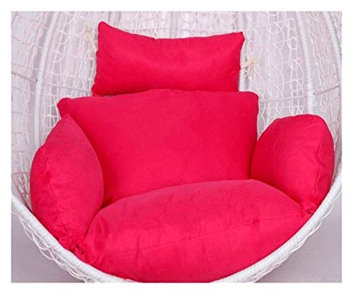 Cojines colgantes para sillas con forma de huevo Cojines para sillas hamaca Cojines colgantes de ratán para asiento Cojines para asiento de huevo con cojín para jardín, patio, sillón columpio de ratá