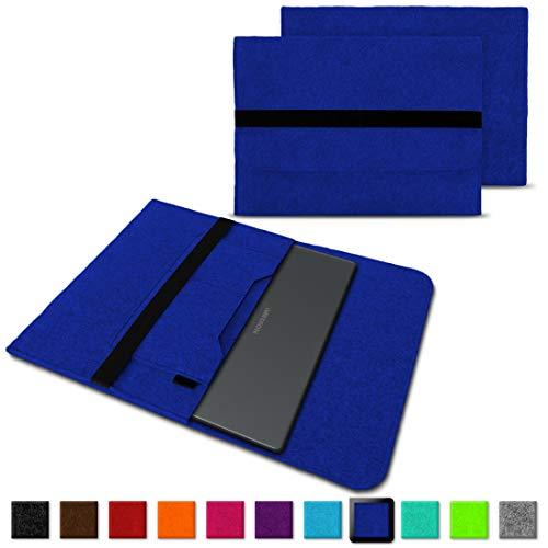 NAUC Medion Akoya E3223 Tasche Hülle Filz Sleeve Schutzhülle Cover Notebook Case Etui, Farben:Blau