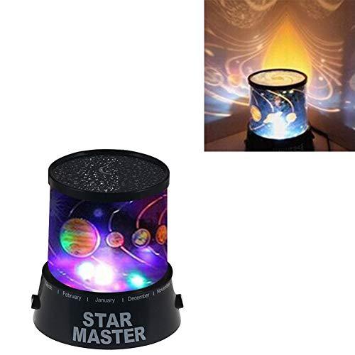Beiguoxia - Lámpara de noche con luz LED colorida y diseño de cielo estrellado para...