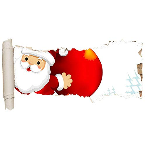 gaozhong Pegatinas de pared Papá Noel Regalos de Navidad Niños Agujero enorme Niña Niño D871