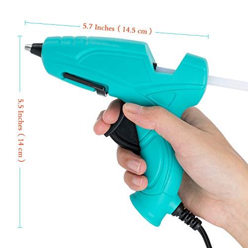 FL Mini Hot Glue Gun, Hot Glue Gun for Kids, 20W Mini Size High Temperature Hot Melt Glue Gun Kit with 15 pcs Glue Sticks, Packaging, DIY, Arts & Craft, Repairing and More, Aqua (FQ-118)