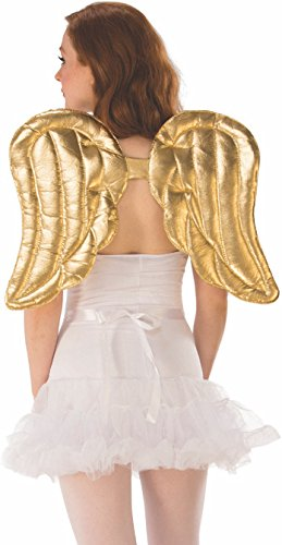Rubie's unisex adults Gold Costume Wings Party Supplies, Multicolor, One Size US