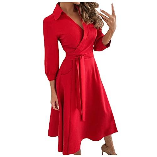 Damer enfärgad V-ringning snörning smal body wrap höfter lång klänning camisole maxiklänningar aftonklänning, A-linjesöm legant sexig tunika maxiklänningar utan tillbehör.