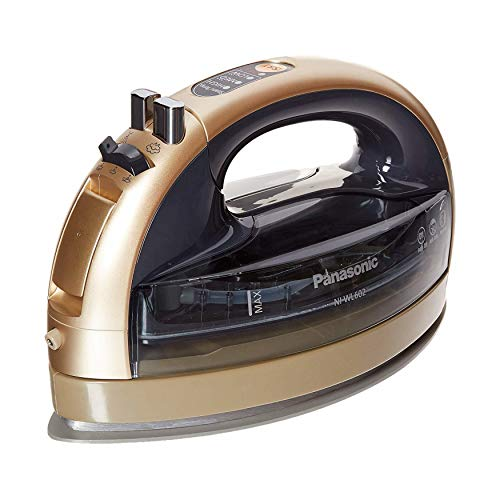 Panasonic Cordless 360 Freestyle Steam/Dry Iron with Curved Ceramic Soleplate - NI-WL602N ( Champagne)