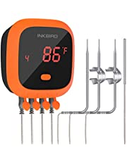 Inkbird Waterproof Wireless BBQ Grill Thermometer W/Timer Magnet for Grill Barbecue Thermometers BBQ Oven Smoker,1000mAh Li-Battery
