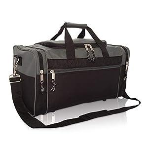 Eigenschaften: 1 großes Hauptfach für Handtücher, Schuhe usw., 1 Reißverschluss-Fronttasche für Schlüssel/Mundschutz/Handy/andere, 1 gepolsterter verstellbarer Schultergurt, 1 gepolsterter Duffel-Griff mit Klettverschluss und 2 Seitentaschen mit Reiß...