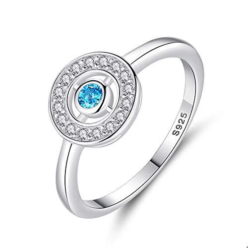 FashionEvil Eye Anillos de dedo Plata de ley 925 Anillos de ojo azul de cristal para mujer Compromiso Boda Joyería de moda