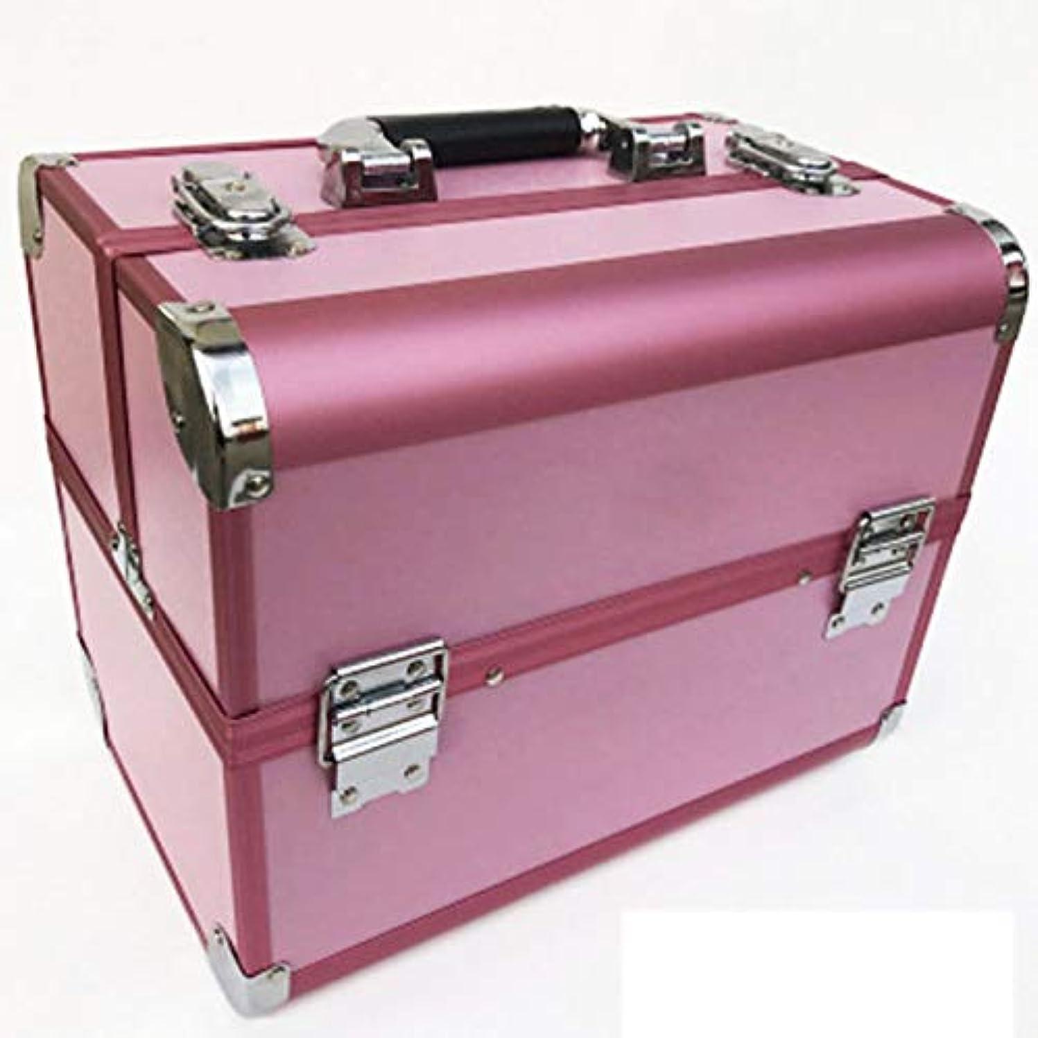 ティッシュ心から放送化粧箱、道具箱化粧箱 - 多層2つのロック化粧キット - 防水化粧箱 - 携帯用化粧箱(32cm * 22cm * 26cm)