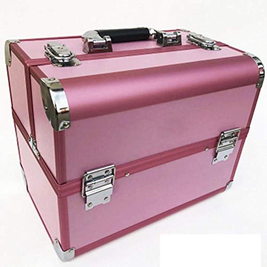 形容詞タイヤコロニアル化粧箱、道具箱化粧箱 - 多層2つのロック化粧キット - 防水化粧箱 - 携帯用化粧箱(32cm * 22cm * 26cm)