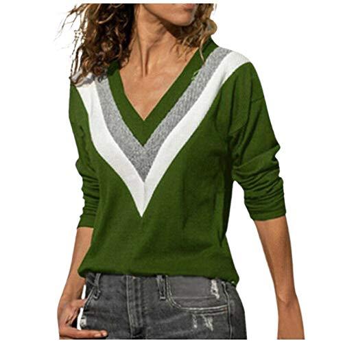 MRULIC Damen Kurzarm T-Shirt Rundhals Ausschnitt Lose Hemd Pullover Sweatshirt Oberteil Tops(B-Weiß,EU-48/CN-4XL)