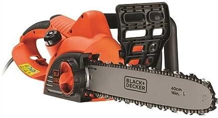 BLACK+DECKER CS2040-QS - Motosierra eléctrica 2000W, espada 40 cm, velocidad 12.5 m/s