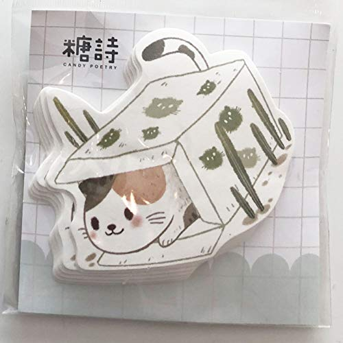 Geschenken UK® Leuke Katten Dieren Mini Kladblok Opmerkingen Pad Pocket Memo Pad Kat in doos