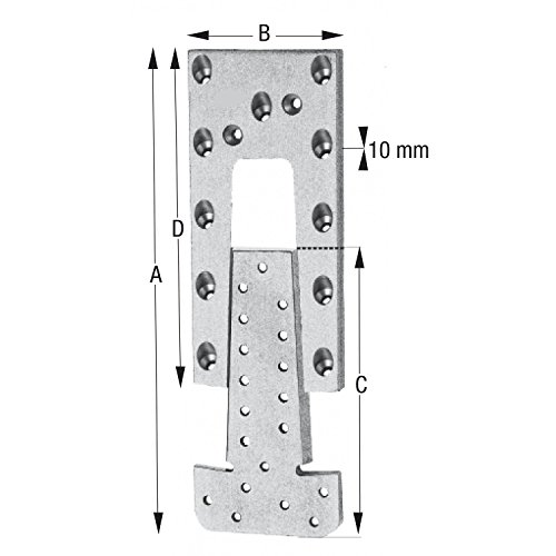 SIMPSON Hirnholzverbinder ETB 120-B Aluminium mit Zulassung