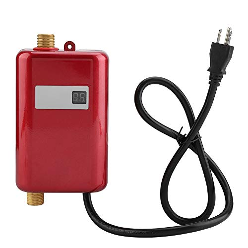 Mini Tankless Water Heater, 110V 3000W Electric Water Heater Tankless Instant Hot Water Heater...