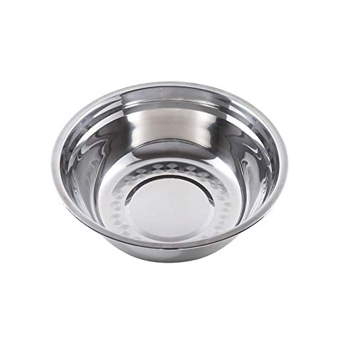 YUZZZKUNHCZw Bowls, Household Stainless Steel Basin, Kitchen, Multifunctional Round Soup Bowl, Thickened Rice Bowl, Tableware, Restaurant Tools, Multiple Specifications Rice Bowl (Size : Large)
